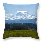 Sunny Rainier Throw Pillow