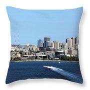 Sunny Seattle Throw Pillow