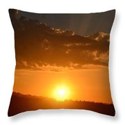 Sunny Side Upward Throw Pillow