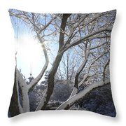 Sunny Snow Day 1 Throw Pillow