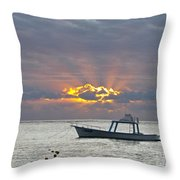 Sunrise - Puerto Morelos Throw Pillow