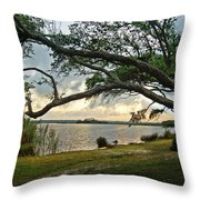 Sunrise Across The Lagoon Throw Pillow