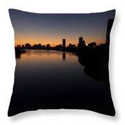 Sunrise Along The Charles River, Boston Throw Pillow