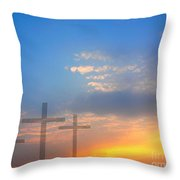 Sunrise And Easter Theme Throw Pillow