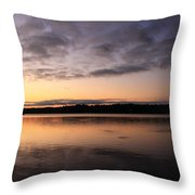 Sunrise And Fish And Docks Throw Pillow