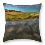 Sunrise At Brooks Island Refuge Throw Pillow