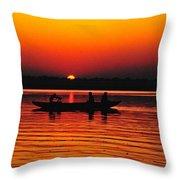 Sunrise At Indian Sea  Throw Pillow