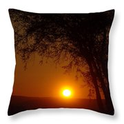 Sunrise At Maryhille  Throw Pillow