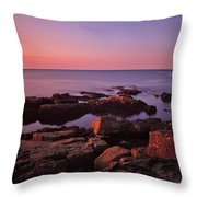 Sunrise At Otter Point Throw Pillow