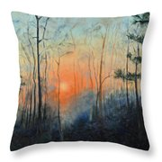 Sunrise At Pike Road Throw Pillow