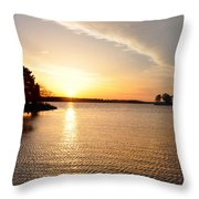 Sunrise At St Michaels Throw Pillow