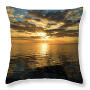 Sunrise At The Banks Throw Pillow