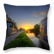 Sunrise At The Boat Inn Throw Pillow