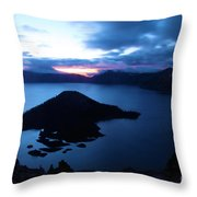 Sunrise At The Crater Throw Pillow