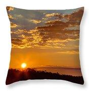 Sunrise Bayou Throw Pillow