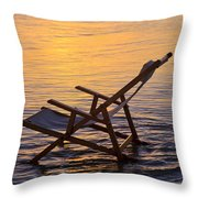 Sunrise Beach Lounging Throw Pillow
