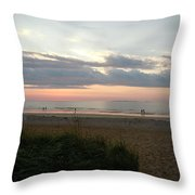 Sunrise Colors Of Maine Throw Pillow