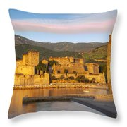 Sunrise In Collioure Throw Pillow
