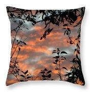 Sunrise Leaves Throw Pillow
