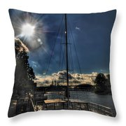 Sunrise Moon Dance Throw Pillow