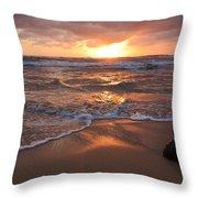 Sunrise On Kauai Coast Throw Pillow
