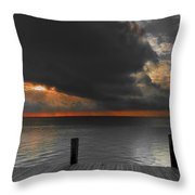 Sunrise On Key Islamorada Throw Pillow