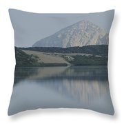 Sunrise On Morro Bay And Rock Throw Pillow