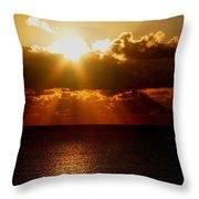 Sunrise On Sea 1 Throw Pillow