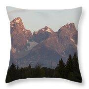 Sunrise On The Grand Tetons Throw Pillow