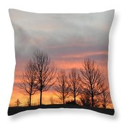 Sunrise On The Hill Throw Pillow
