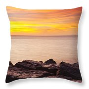 Sunrise On The Jetty Texas Throw Pillow