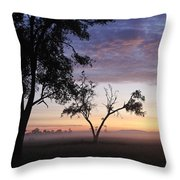 Sunrise On The Masai Mara Throw Pillow