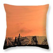 Sunrise On The Outer Banks Throw Pillow