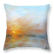 River Sunrise Throw Pillow