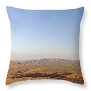 Sunrise On The Sierra De Las Quijadas Throw Pillow