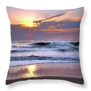 Sunrise On The Waves Throw Pillow