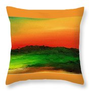 Sunrise Over Cane Field Throw Pillow