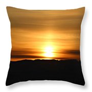 Sunrise Over Cascade Mountains Throw Pillow