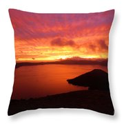 Sunrise Over Crater Lake Throw Pillow