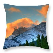 Sunrise Over Crowsnest Pass, Border Throw Pillow