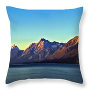 Sunrise Over Jackson Lake Throw Pillow