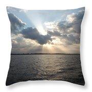 Sunrise Over Keaton Beach Throw Pillow