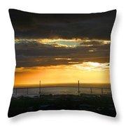 Sunrise Over Kessock Throw Pillow