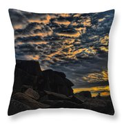Sunrise Over Little Round Top Throw Pillow by Dave Sandt