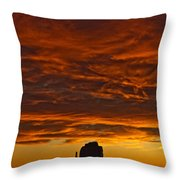 Sunrise Over Monument Valley, Arizona Throw Pillow