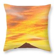 Sunrise Over Mount Hood, Portland Throw Pillow