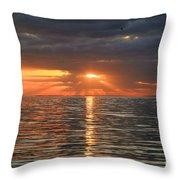 Sunrise Over Ripples Throw Pillow