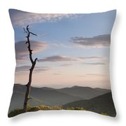 Sunrise Over Shenandoah National Park  Throw Pillow
