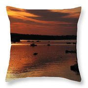 Sunrise Over Southwest Harbor Throw Pillow