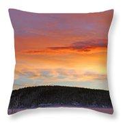 Sunrise Over Teslin Lake, Yukon Throw Pillow